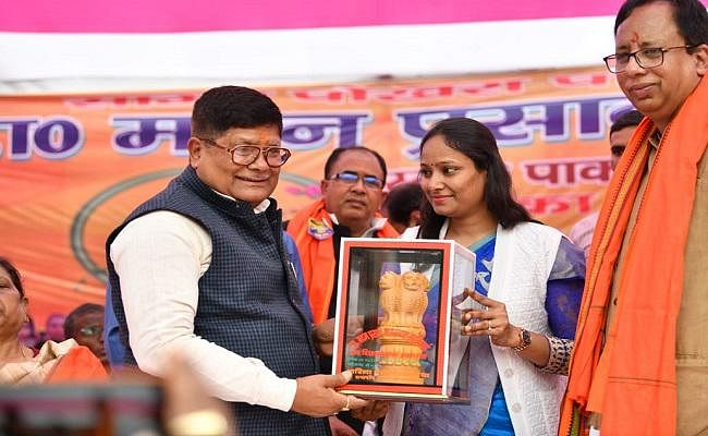 नगर विकास मंत्री सुरेश शर्मा ने मंत्री बनने का खोला राज, बताया...
