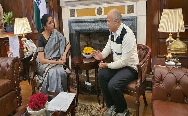 वित्त मंत्री से मुलाकात के बाद क्या बोले दिल्ली के उपमुख्यमंत्री मनीष सिसोदिया