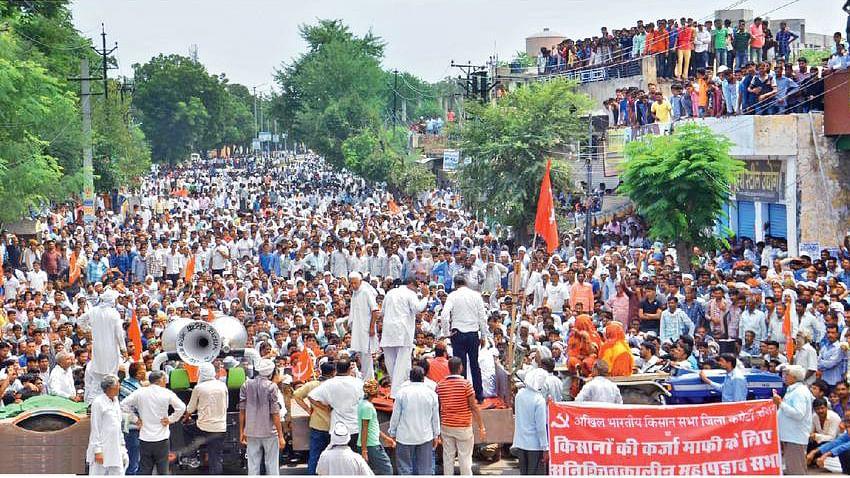 کسان مظاہرے کی فائل تصویر