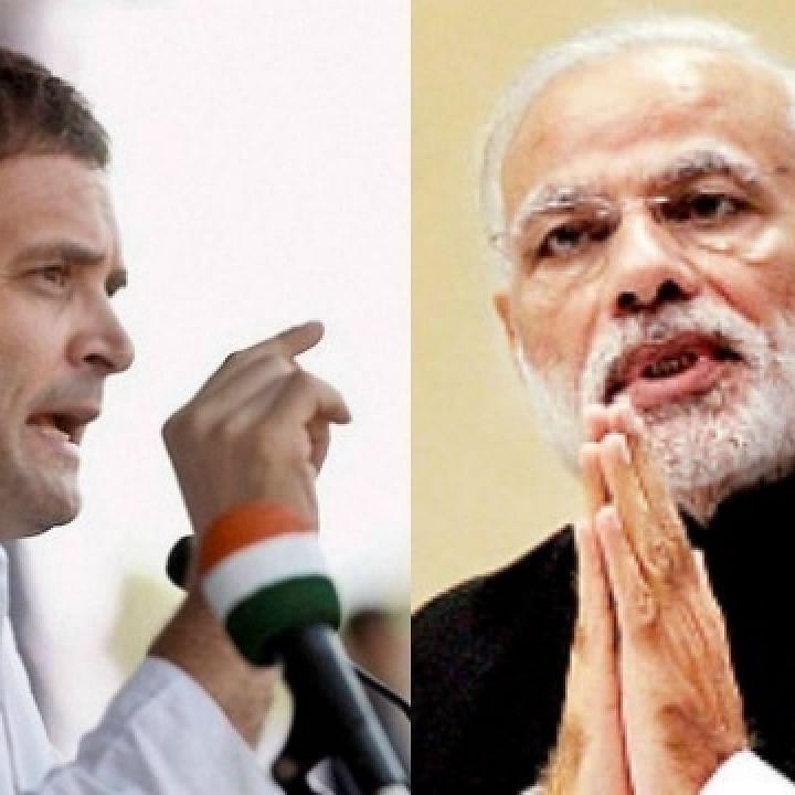 وزیرا عظم مودی اور کانگریس لیڈر راہل گاندھی کی فائل تصویر