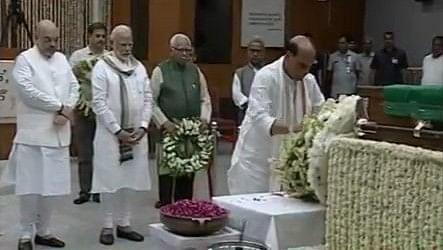 قومی یادگار پر سابق وزیر اعظم واجپئی کی آخری رسومات ادا