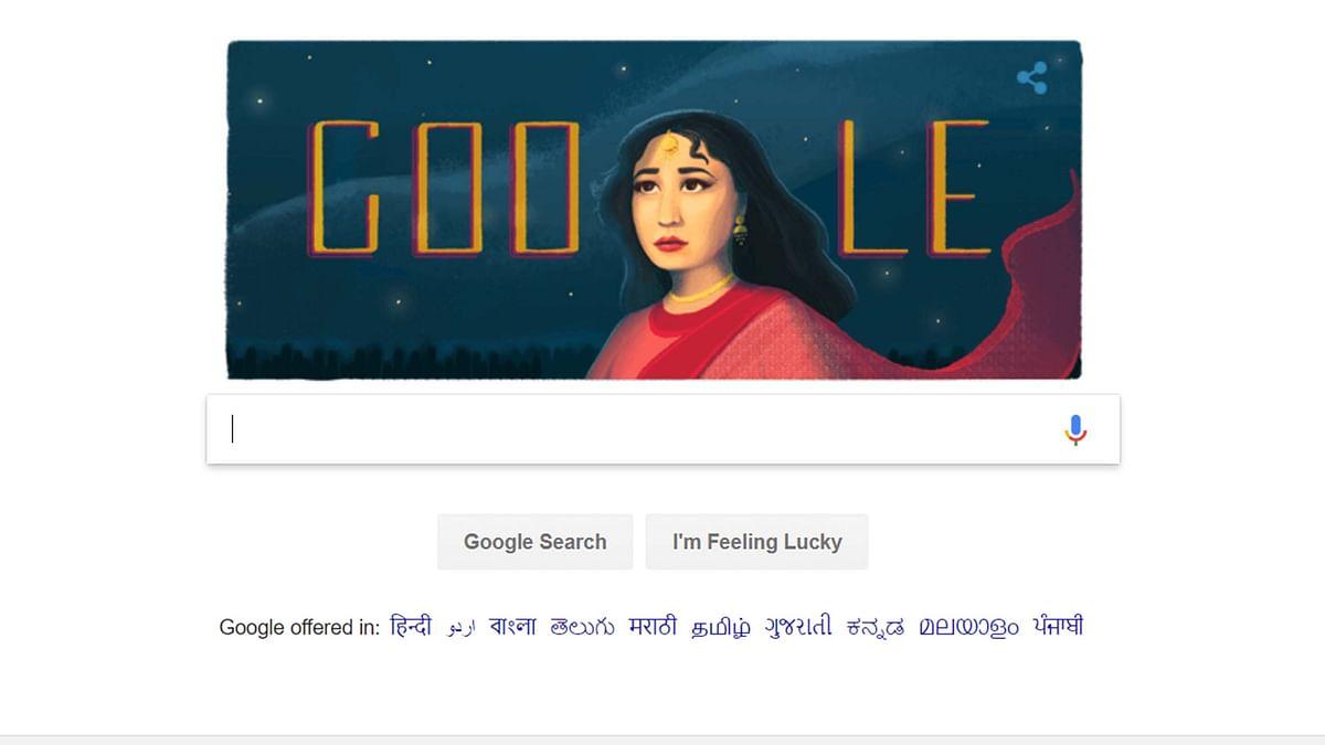 یوم پیدائش پر مینا کماری کے اعزاز میں گوگل کا ڈوڈل