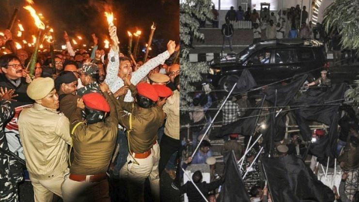 پی ایم مودی کو دوسرے دن بھی دکھائے گئے سیاہ پرچم، زبردست ناراضگی کا سامنا