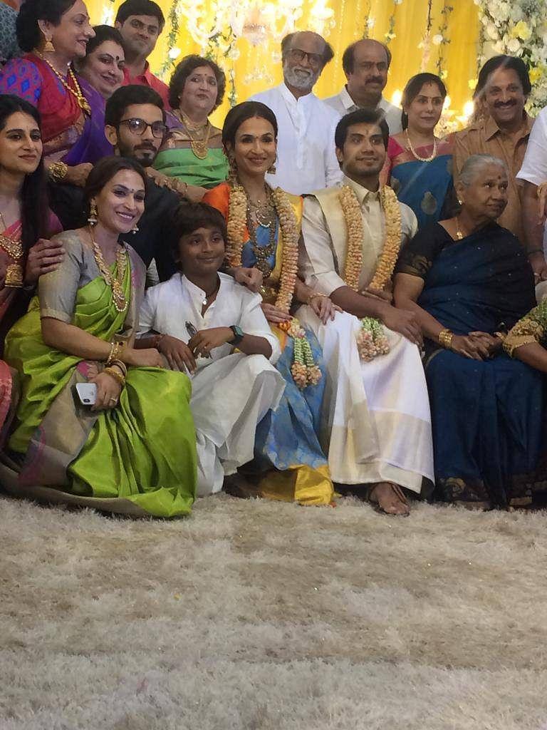 رجنی کانت کی بیٹی سوندریہ کی شادی 11 فروری کو، پری-ویڈنگ رسپشن کی تصویریں وائرل