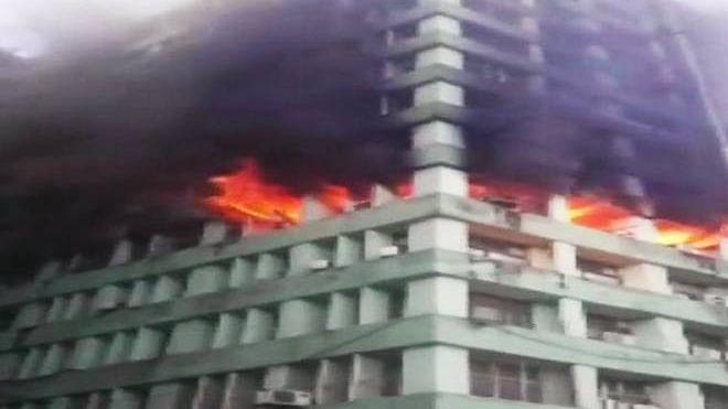 سی جی او کمپلکس میں زبردست آتشزدگی، سی آئی ایس ایف انسپکٹر کی موت