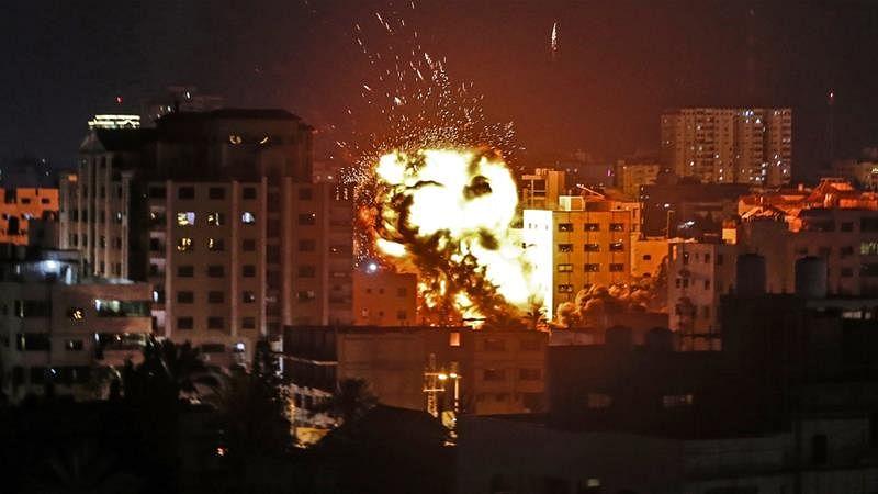 فلسطین: غزہ ميں حاملہ عورت اور چودہ ماہ کی بچی ہلاک