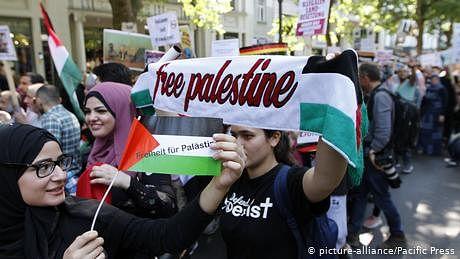 برلن میں اسرائیل مخالف مظاہرہ بھی اور یہودیوں کے ساتھ یکجہتی کا مظاہرہ بھی