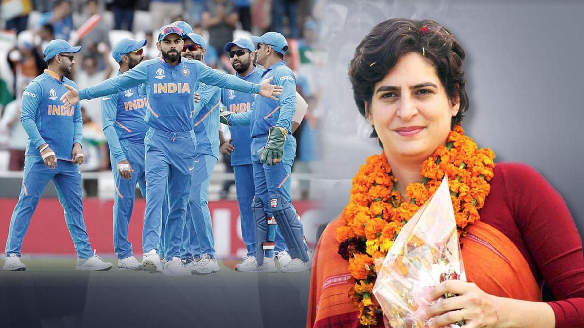 پرینکا گاندھی نے دی ٹیم انڈیا کو جیت کی مبارک باد، سیمی فائنل کے لئے نیک خواہشات
