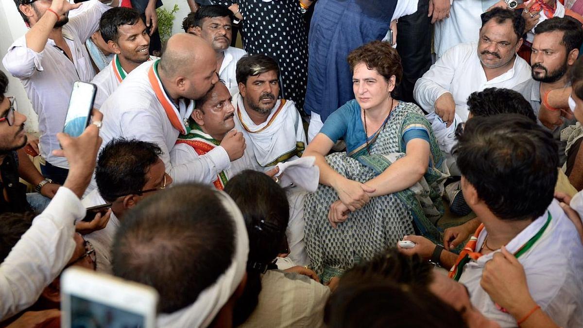 یوپی اسمبلی: پرینکا گاندھی کو سون بھدر جانے سے روکنے اور حراست پر زَبردست ہنگامہ
