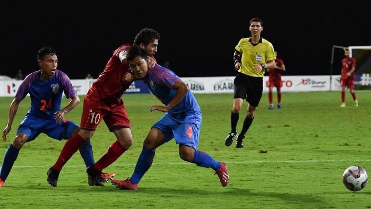ہندوستانی فٹبال ٹیم نے آخری میچ میں کیا شاندار مظاہرہ، شام سے میچ برابر رہا