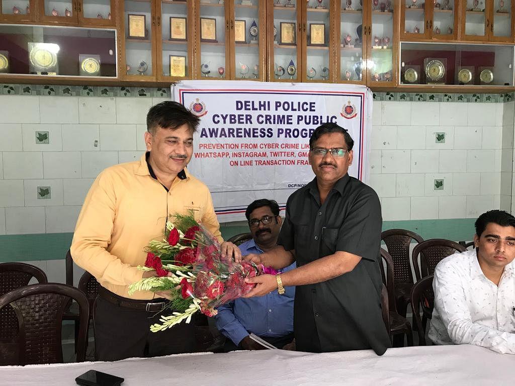 ذاکر حسین اسکول میں دہلی پولس کا سائبر سیفٹی پروگرام منعقد