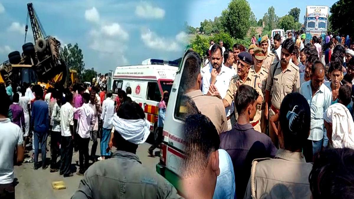 اتر پردیش: شاہجہانپور میں ہولناک سڑک حادثہ، 17 افراد ہلاک