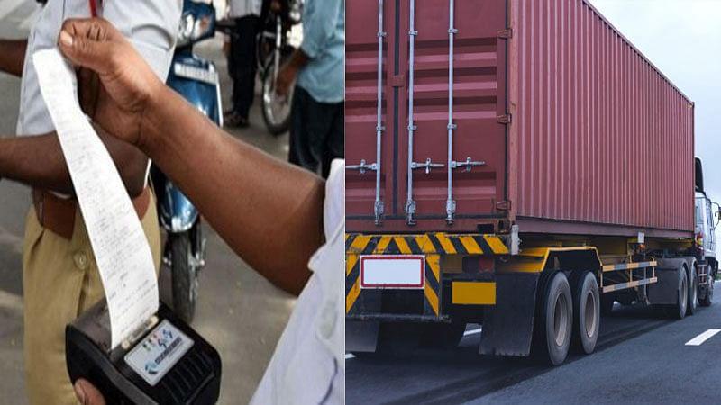 چالان کے تمام ریکارڈ منہدم، ٹرک مالک پر 6,53,100 روپے کا جُرمانہ