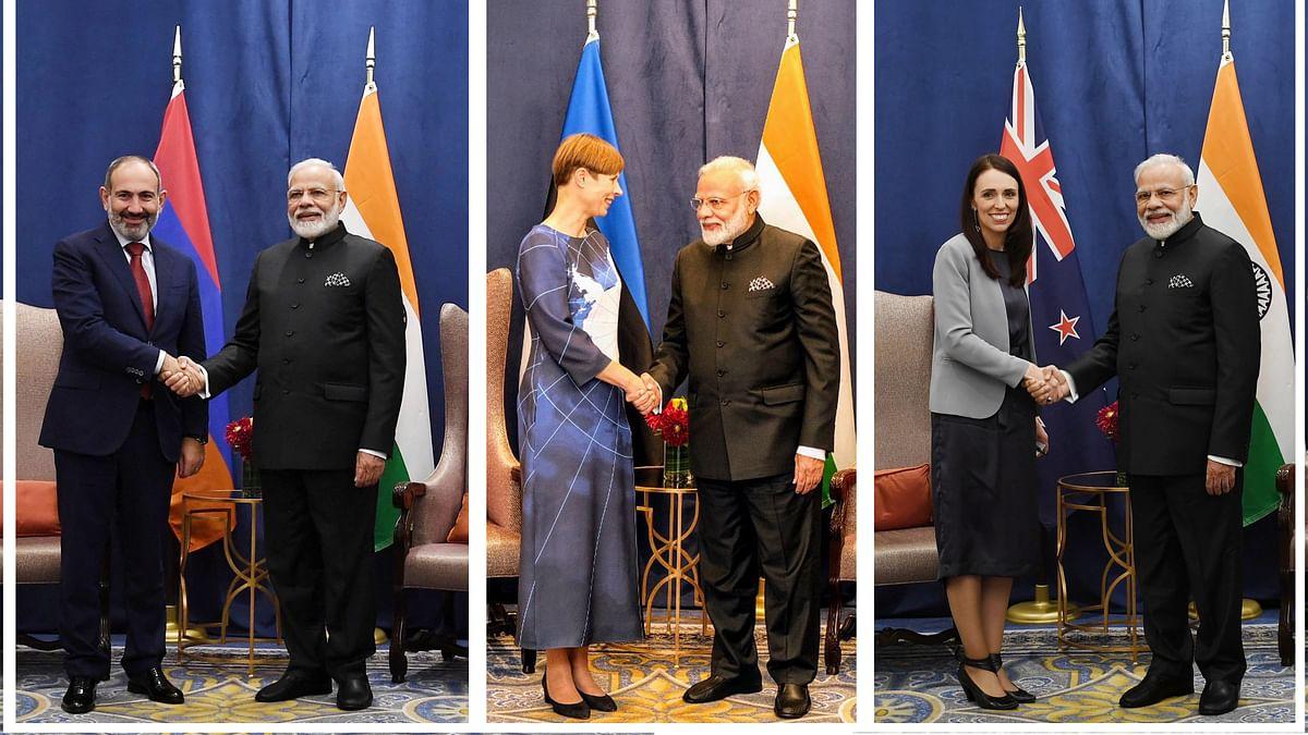 وزیر اعظم مودی کی نیوزی لینڈ، آرمینیا اور ایسٹونیا کے ساتھ دو طرفہ بات چیت