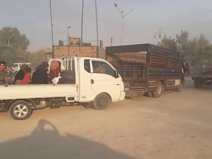 فوجی کارروائی کے بعد شام میں بڑے پیمانے پر لوگوں کی نقل مکانی