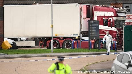 انگلینڈ میں ٹرک سے ملنے والی سبھی 39 لاشیں چینی شہریوں کی تھیں!