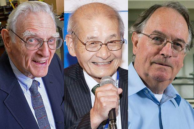 لیتھیم آئن بیٹری کی دریافت کے لیے تین سائنس دانوں کو کیمیا کا نوبل انعام