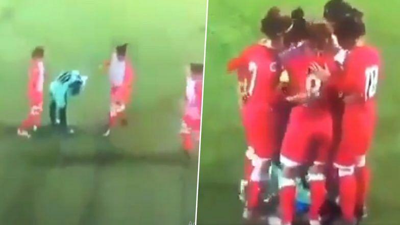 ویڈیو: میچ کے دوران خاتون فٹ بالر کا کھل گیا حجاب، مخالف کھلاڑیوں نے کی مدد