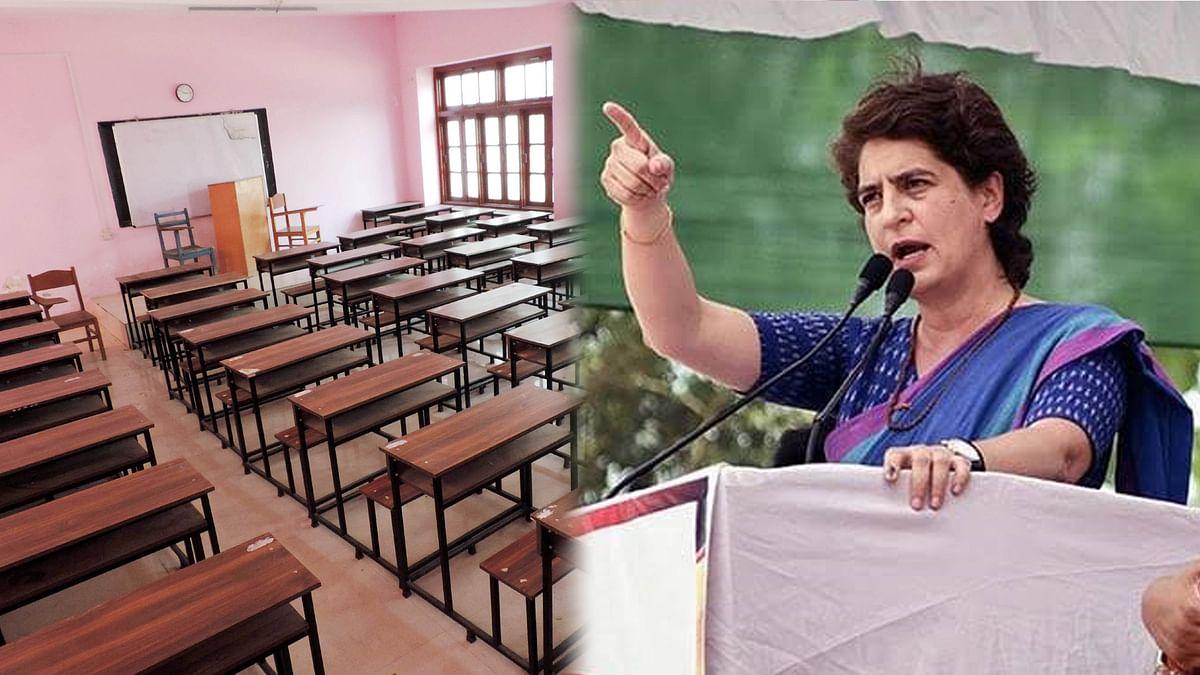 مرکزی حکومت کی کارروائی سے کشمیری بچے اسکولوں سے دور: پرینکا گاندھی