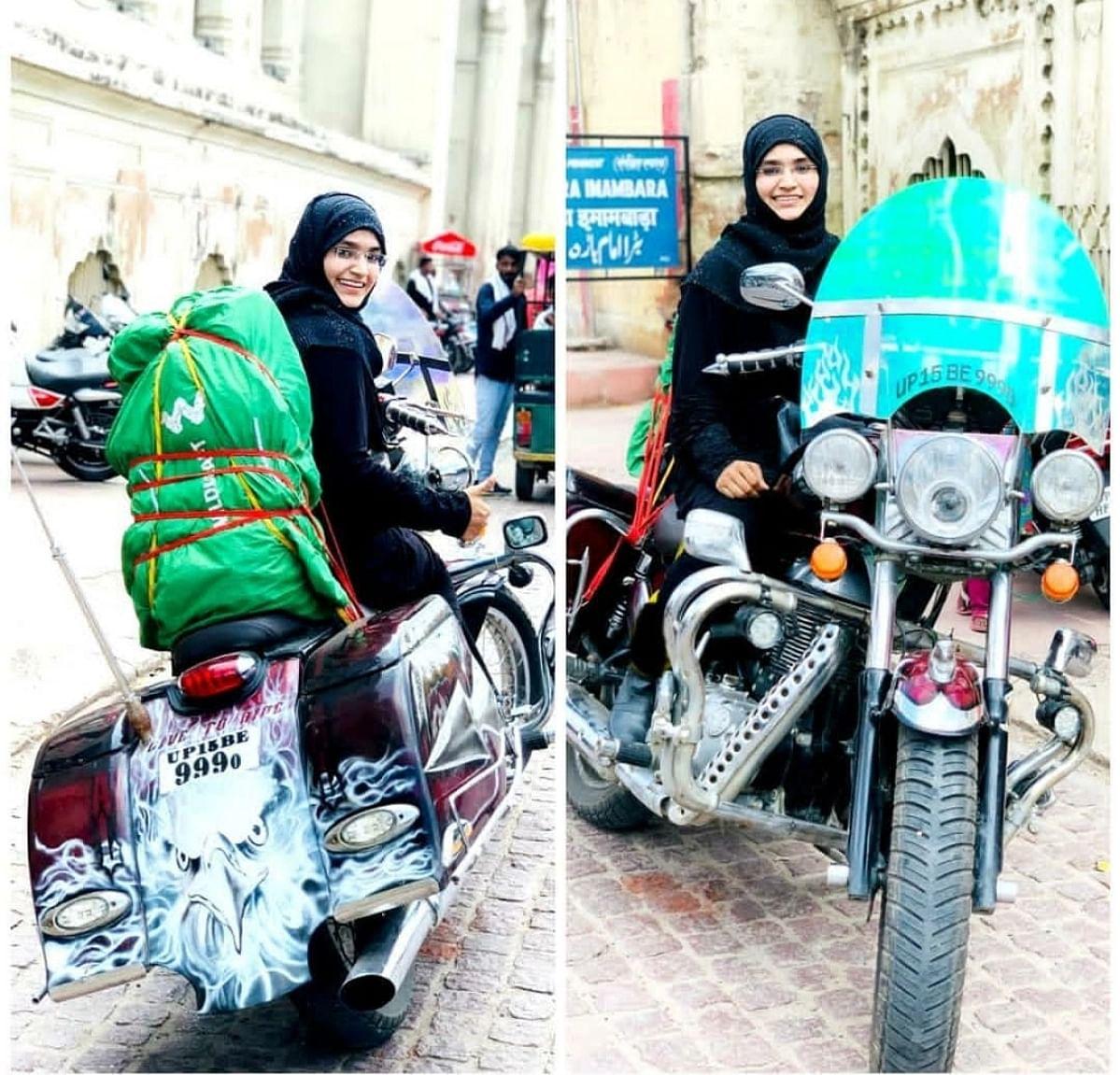 لکھنؤ کی برقعہ رائیڈر عائشہ امین، 'میں ماڈرن ہوں لیکن برقعہ میری طاقت ہے'