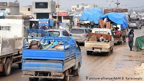 شمال مغربی شام میں سوا دو لاکھ سے زائد افراد بے گھر