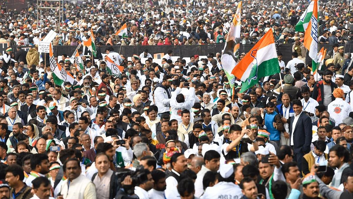 کانگریس کی 'بھارت بچاؤ ریلی' میں پہنچی جم غفیر... دیکھیں تصویری جھلکیاں