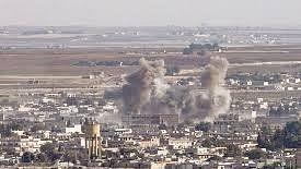 شام میں نامعلوم طیارے کے فضائی حملے میں پانچ  افرادہلاک