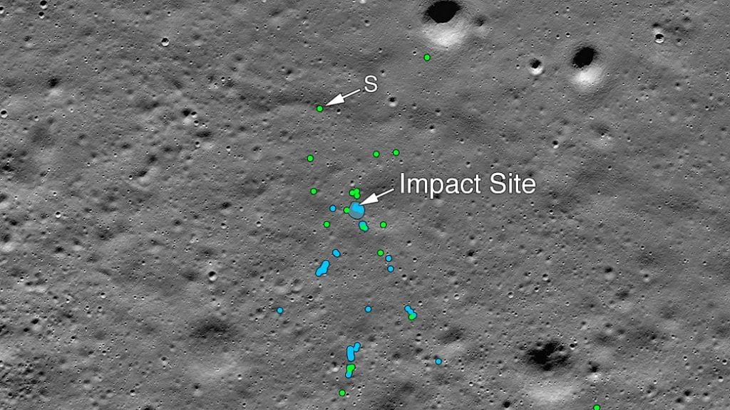 چاند پر ٹوٹ کر بکھرے 'وکرم لینڈر' کی تصویر آئی سامنے، چنئی کے سائنسداں کا کمال!