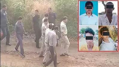 بھاگ رہے تھے حیدر آباد عصمت دری اور قتل کے چاروں ملزمین، پولس تصادم میں ہلاک