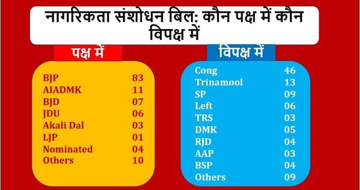 سی اے بی: راجیہ سبھا میں ووٹنگ کے دوران کس پارٹی کا ووٹ گیا کس خانے، دیکھیں یہاں...