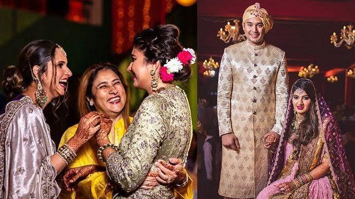 ثانیہ مرزا کی بہن انعم اور اظہرالدین کے بیٹے اسد، رشتہ ازدواج میں منسلک