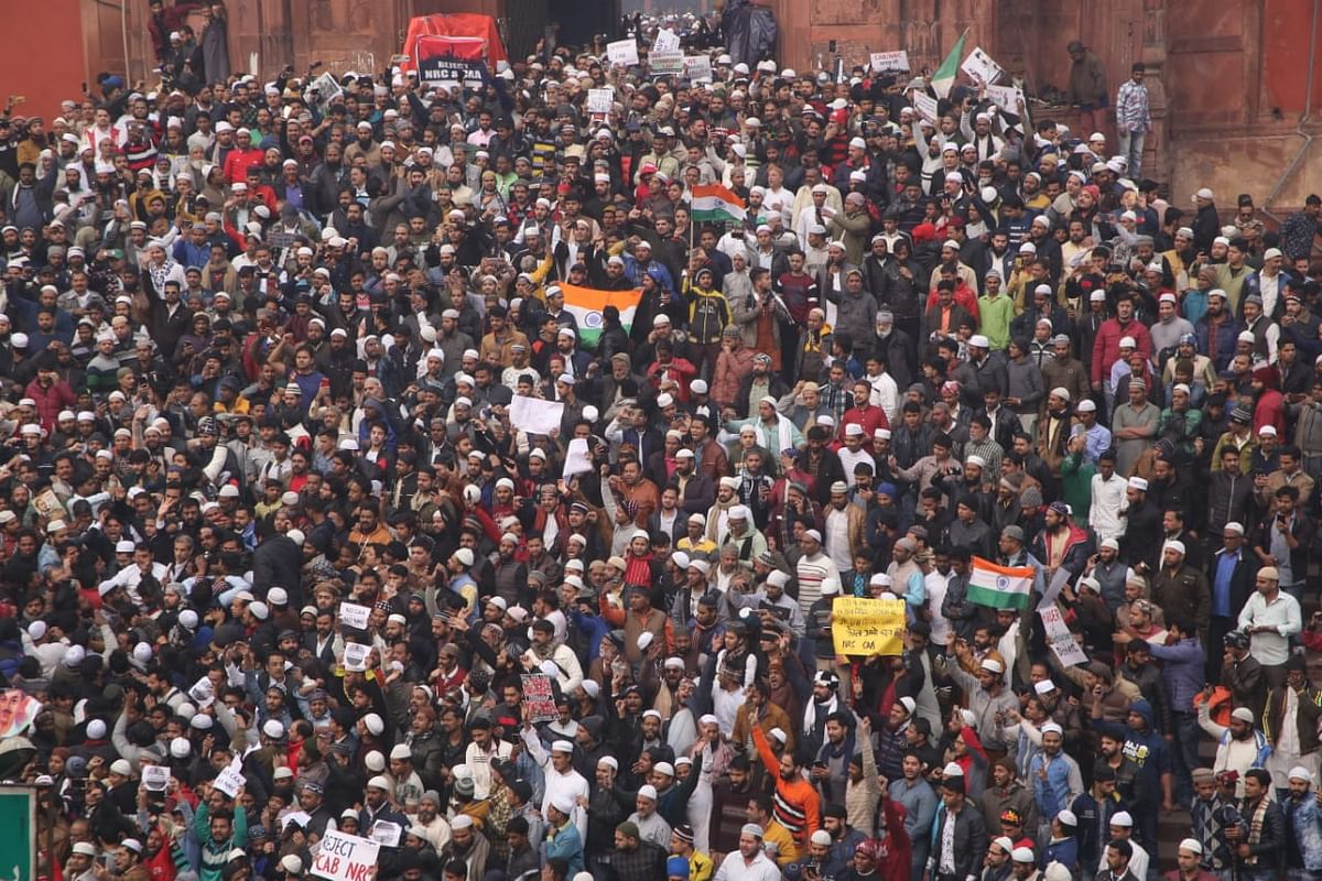 تصاویر: سی اے اے کے خلاف دہلی کی شاہی جامع مسجد پر عظیم الشان مظاہرہ