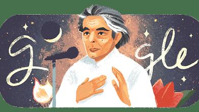 کیفی اعظمی کی 101ویں یوم پیدائش پر 'گوگل' نے بنایا 'ڈوڈل'