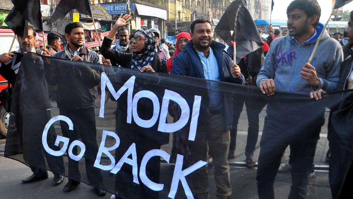 وزیر اعظم کا بنگال دورہ: 'گو بیک مودی' کے پوسٹروں کے ساتھ احتجاج