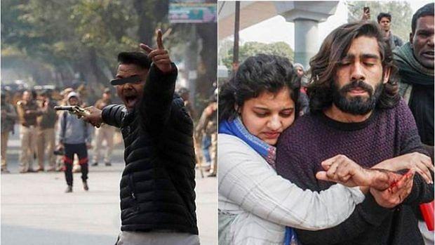 سی اے اے مظاہرہ: 'یہ لو آزادی' کہتے ہوئے شرپسند شخص نے چلائی گولی، طالب علم شاداب زخمی