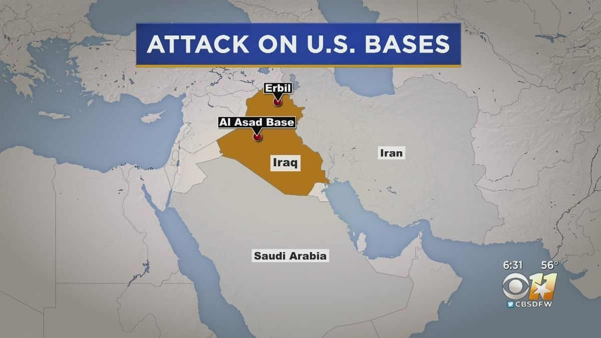 ایران نے عراق میں دو امریکی فوجی اڈوں پر کیے میزائل حملے