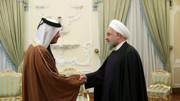 قطری وزیر خارجہ کی ایرانی صدر سے ملاقات، قاسم سلیمانی کی ہلاکت پر اظہارِ تعزیت