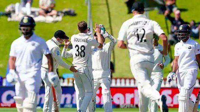 نیوزی لینڈ کے خلاف پہلے ٹیسٹ میچ میں ہندوستان کو بدترین شکست کا سامنا
