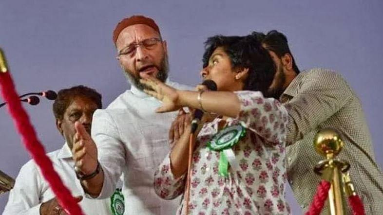 'پاکستان زندہ باد' نعرہ لگانے والی امولیہ لیونا کے خلاف ملک سے غداری کا کیس درج