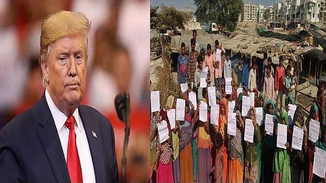 ٹرمپ کو 'اچھے دن' دکھانے کے لیے گجرات میں 45 غریب خاندانوں کو کیا گیا بے گھر