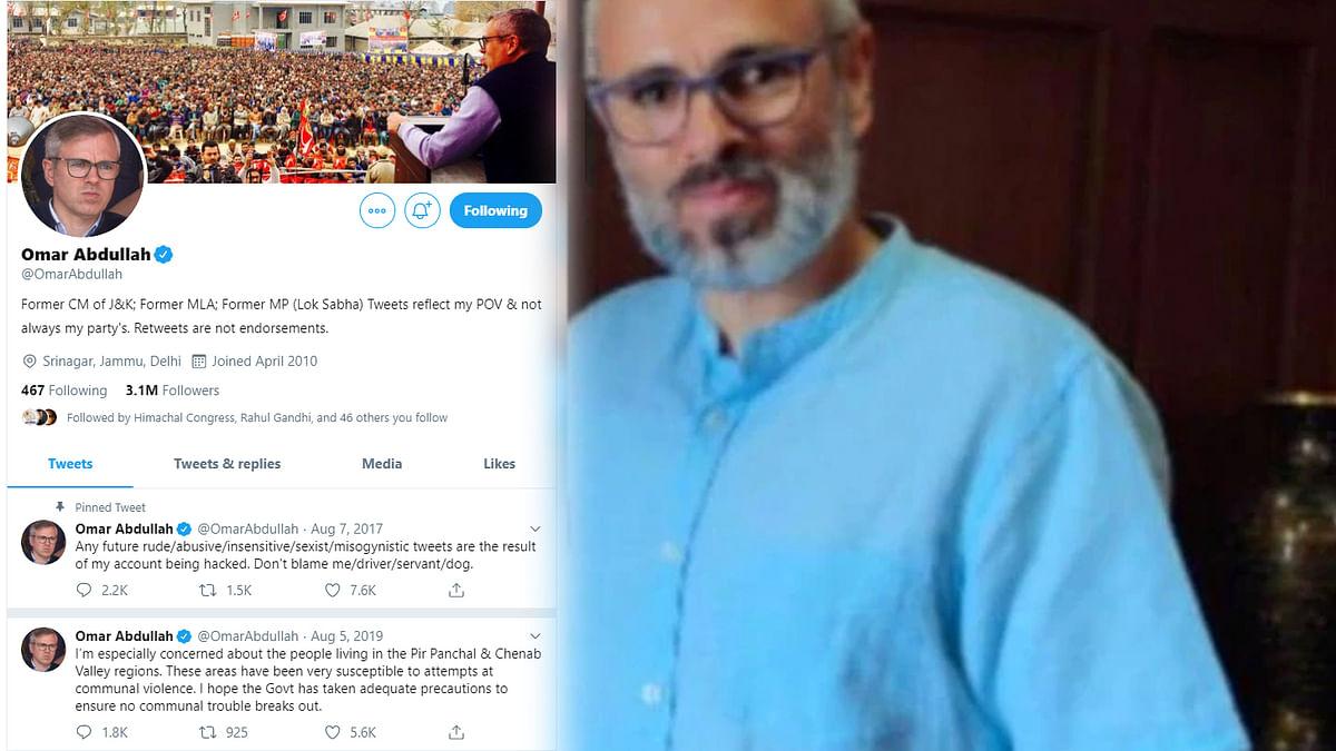 عمر عبد اللہ کی طرح ان کا ٹوئٹر ہینڈل بھی نصف برس سے مسلسل خاموش