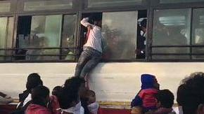 لاک ڈاؤن: گھر کے لیے ہزاروں مزدور نکل پڑے پیدل، راہل گاندھی نے کی مدد کی اپیل