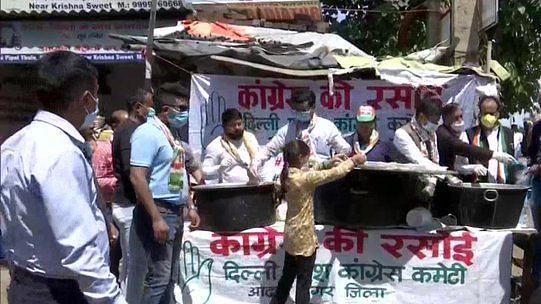 لاک ڈاؤن: دہلی میں بھوکوں کا پیٹ بھرنے آگے آئی 'کانگریس کی رسوئی'