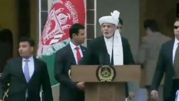 اشرف غنی نے افغانستان کے صدر کا لیا حلف، تقریب کے دوران ہوئے کئی دھماکے