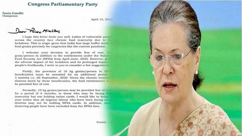 کورونا بحران: غریبوں کی تکلیف دیکھ پریشان ہوئیں سونیا گاندھی، پی ایم مودی کو پھر لکھا خط