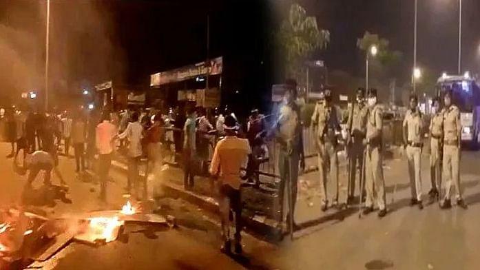 لاک ڈاؤن میں گھر واپسی کی راہ دیکھ رہے مزدوروں کا پھوٹا غصہ، کئی گاڑیاں نذر آتش