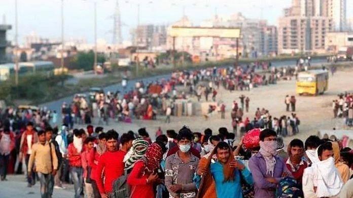 ہریانہ: ٹوٹا مزدوروں کے صبر کا باندھ، گھر واپسی کے لیے نکلے باہر، پولس نے کر دی پٹائی