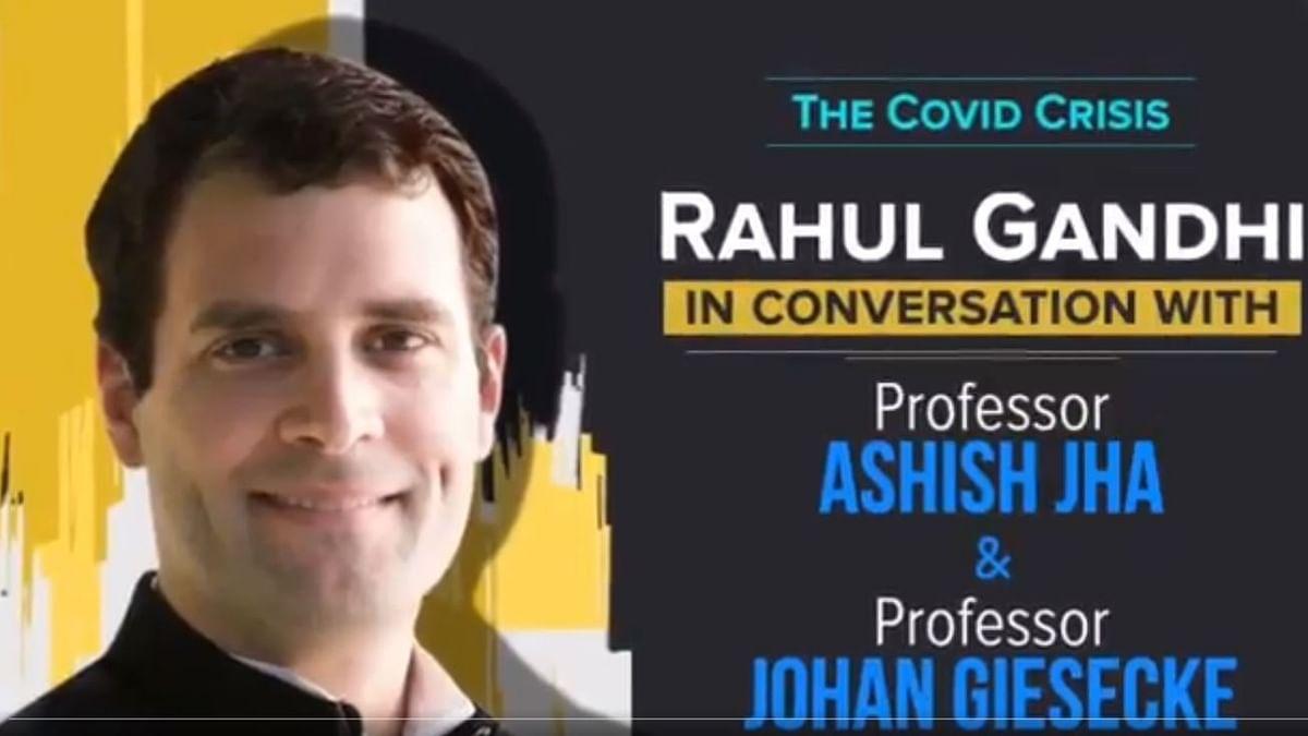 کورونا بحران: ماہرین صحت پروفیسر آشیش جھا اور پروفیسر جوہان کے ساتھ راہل گاندھی کی انتہائی اہم گفتگو، دیکھیں ویڈیو