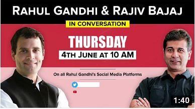 لاک ڈاؤن اور ہندوستانی معیشت پر راجیو بجاج سے راہل گاندھی کی گفتگو کل