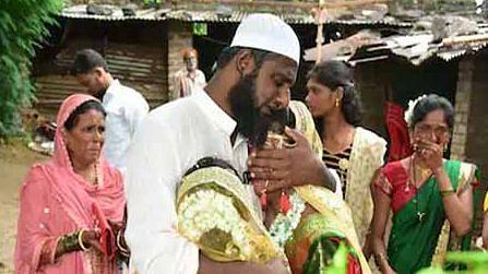 مسلم ماما نے پیش کی مثال، 2 ہندو بھانجیوں کی کرائی شادی، سب کی آنکھیں نم